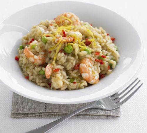 prawn and pea risotto